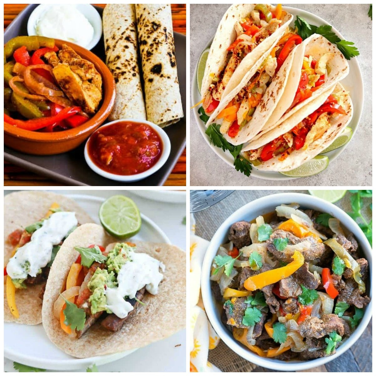 The BEST Slow Cooker or Instant Pot Fajitas from Food Bloggers collage image