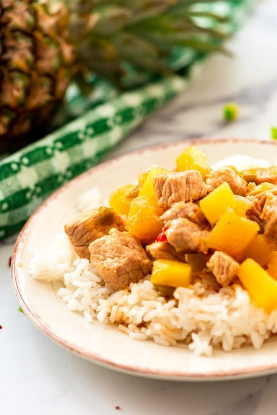 CrockPot Sweet and Sour Pork from Eazy Peazy Mealz