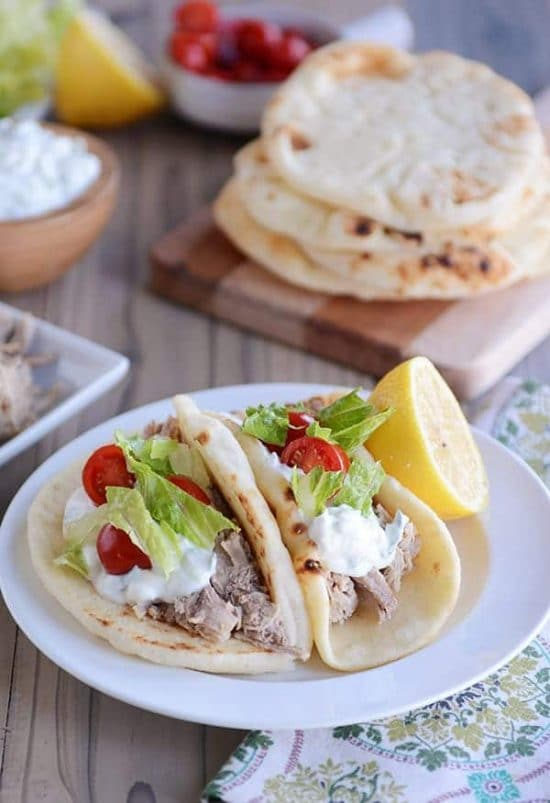 Slow Cooker or Instant Pot Greek Pork from Mel's Kitchen Cafe