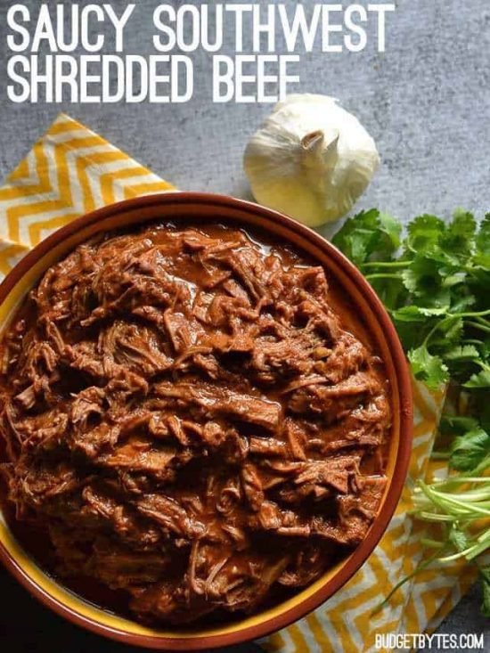 Saucy Southwest Shredded Beef from Budget Bytes