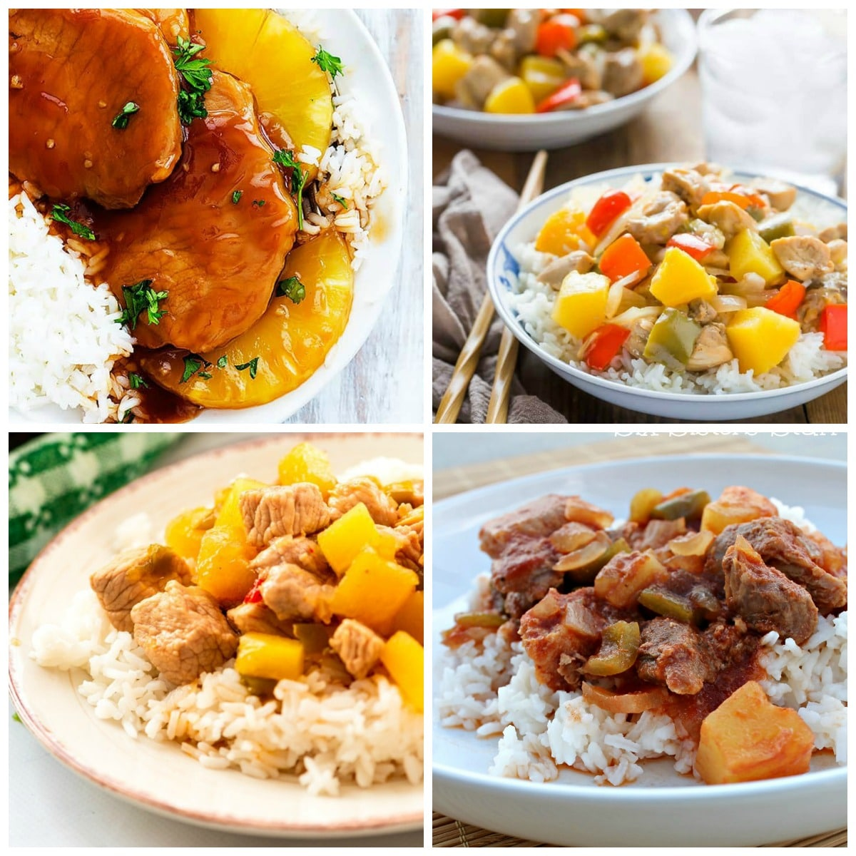 Slow Cooker or Instant Pot Sweet and Sour Pork top photo collage