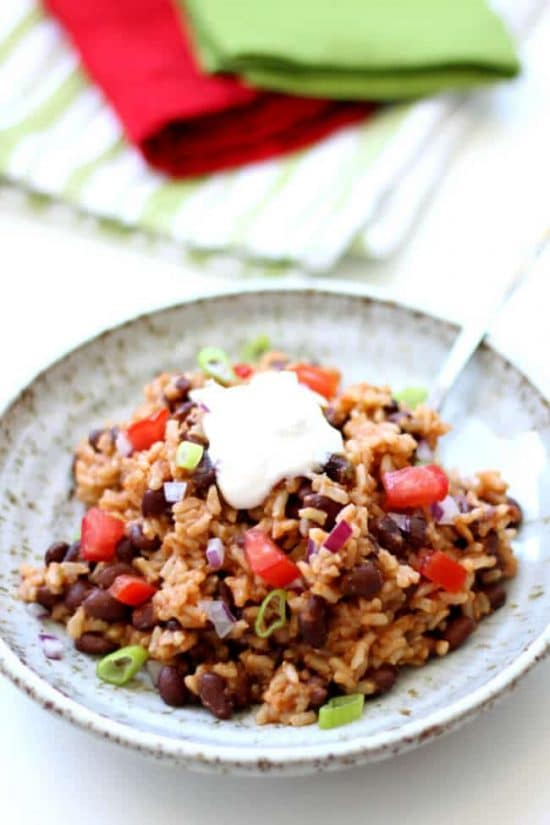 Instant Pot Mexican Black Beans and Rice from 365 Days of Slow + Pressure Cooking
