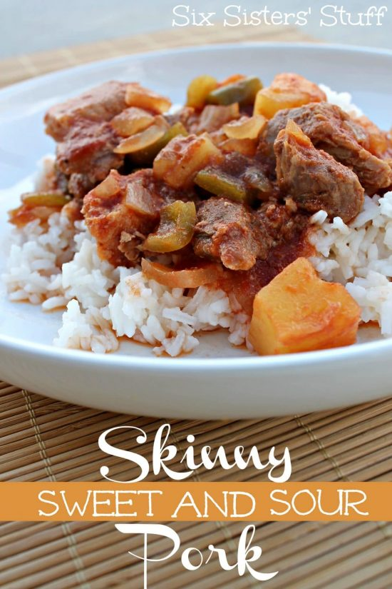 Skinny Slow Cooker Sweet and Sour Pork from Six Sisters' Stuff