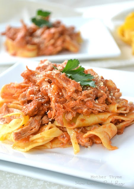 Slow Cooker Pork Ragu from Mother Thyme