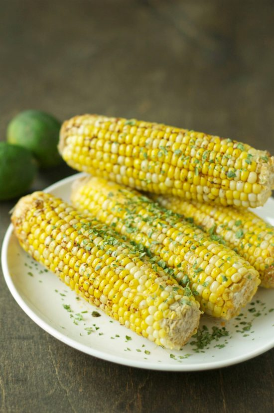 Crockpot Corn on the Cob with Chile Lime Butter