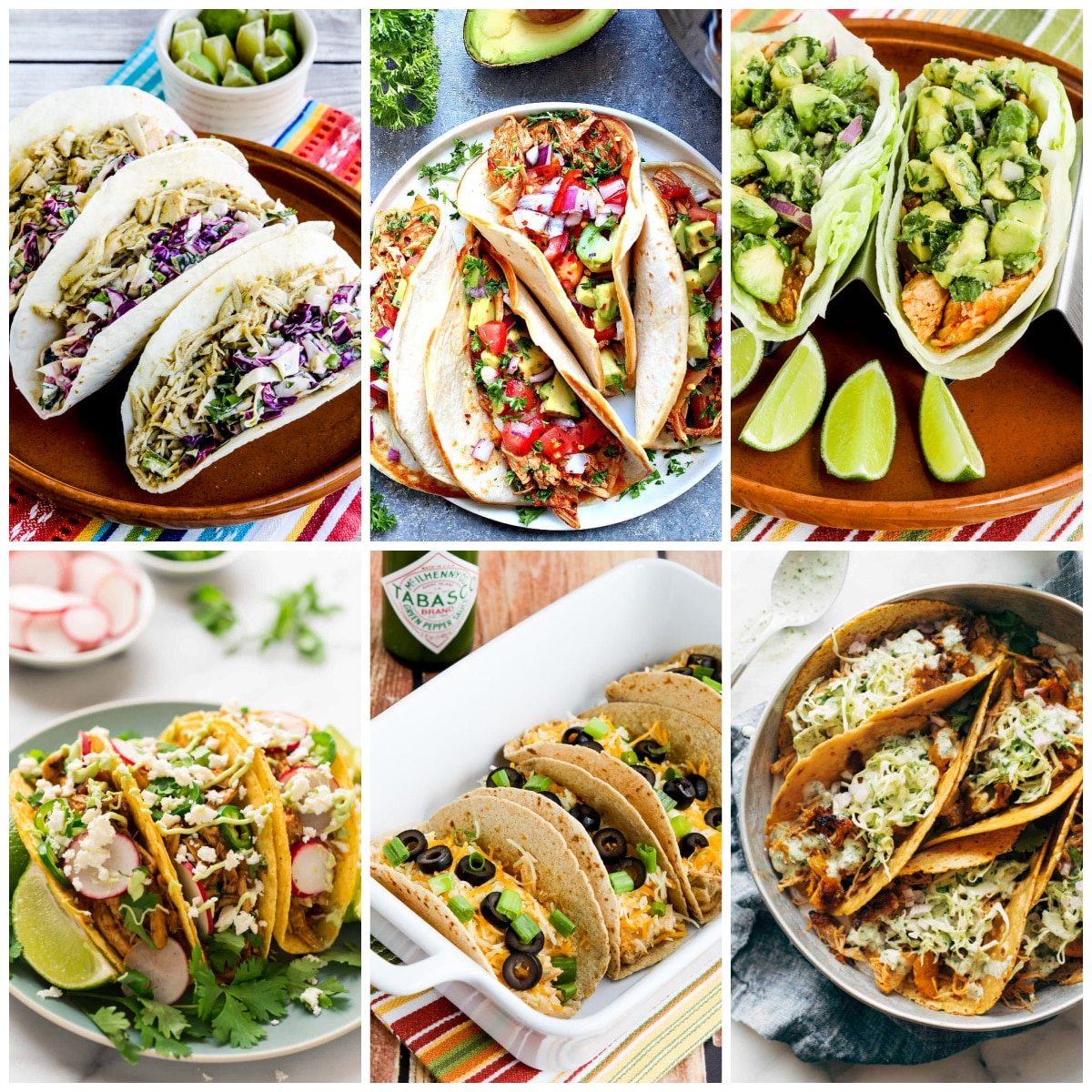 Easy Shredded Chicken Tacos in the Instant Pot collage photo of featured recipes