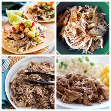 Slow Cooker or Instant Pot Kalua Pork Recipes collage of featured recipes