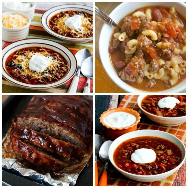 Instant Pot Dinners with Ground Beef top photo collage