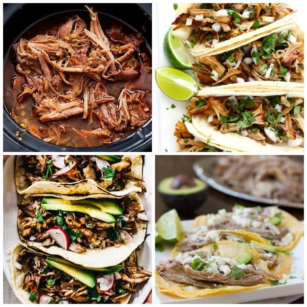 The BEST Slow Cooker Pork Carnitas collage photo