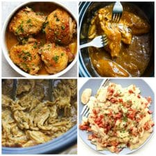 Slow Cooker or Instant Pot Honey Mustard Chicken top photo collage