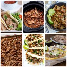 Slow Cooker Pork Carnitas Recipes collage of featured recipes