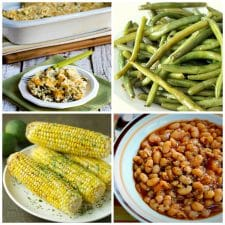 Slow Cooker Summer Side Dishes top photo collage