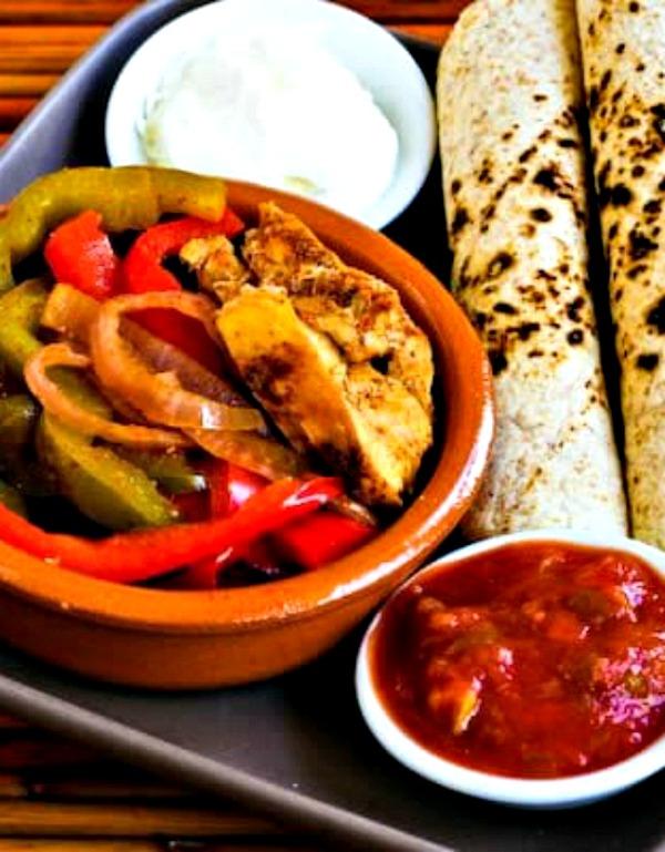 Chicken Fajitas in the Crockpot from Kalyn's Kitchen