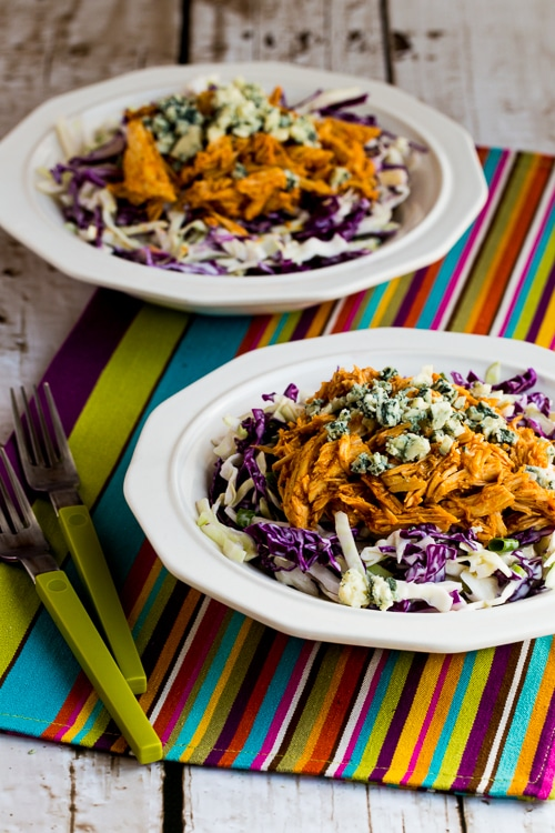 Buffalo Chicken and Blue Cheese Cabbage Bowl from Kalyn's Kitchen