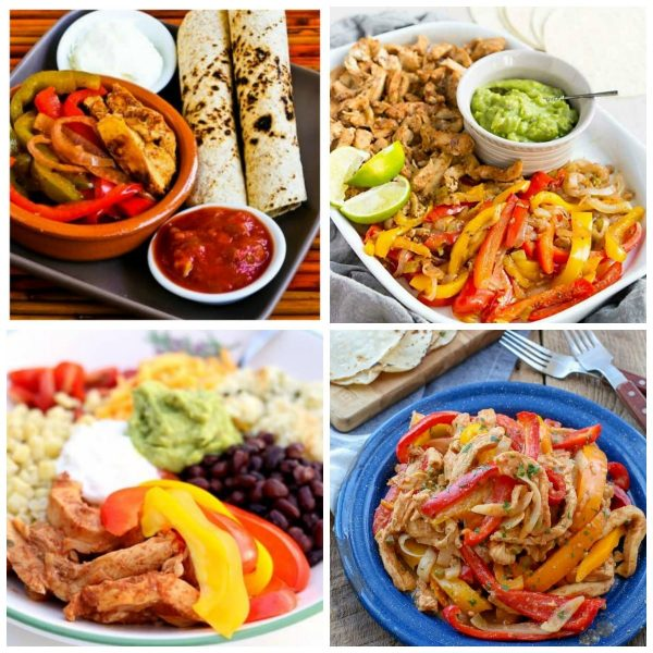 Slow Cooker or Instant Pot Recipes for Chicken Fajitas top photo collage