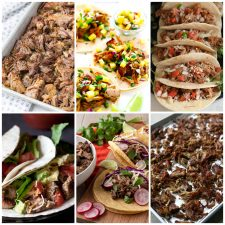 Instant Pot Pork Carnitas collage photo of featured recipes
