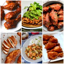 Slow Cooker or Instant Pot Barbecue Chicken Recipes collage of featured recipes