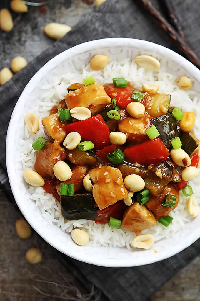 Slow Cooker Kung Pao Chicken from Creme de la Crumb