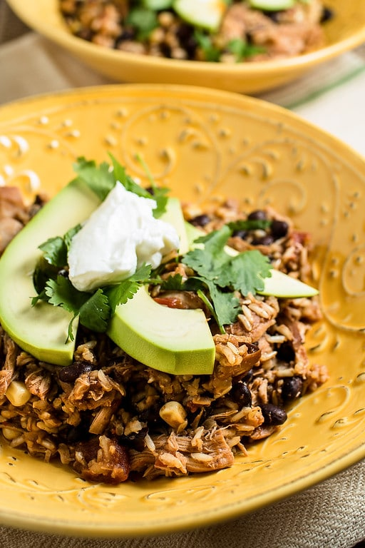 Slow Cooker Chicken Burrito Bowls from Sidewalk Food