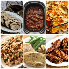 Amazing Five Ingredient Slow Cooker Dinners collage of featured recipes