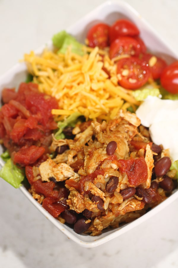 Instant Pot Healthy Chicken Burrito Bowls from Six Sisters' Stuff