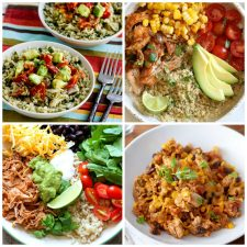 Instant Pot Burrito Bowls top photo collage