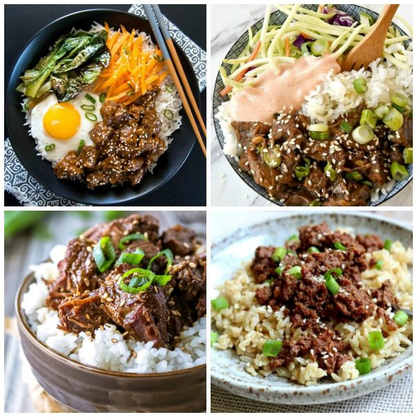 Instant Pot Korean Beef Recipes top photo collage