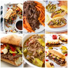 Slow Cooker or Instant Pot Italian Beef Recipes collage photo