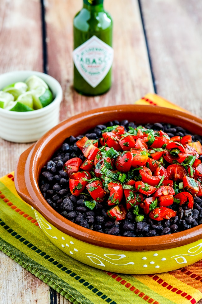 Spicy Black Beans with Cilantro from Kalyn's Kitchen