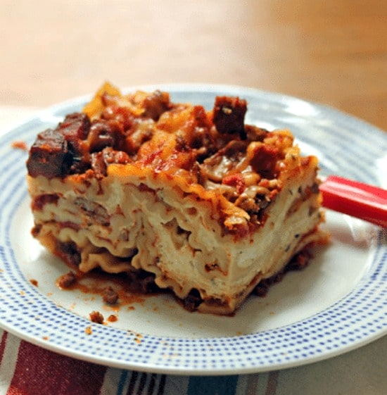 Slow Cooker Sausage and Four Cheese Lasagne from The Perfect Pantry.