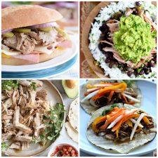 Slow Cooker or Instant Pot Cuban Pork Recipes collage photos