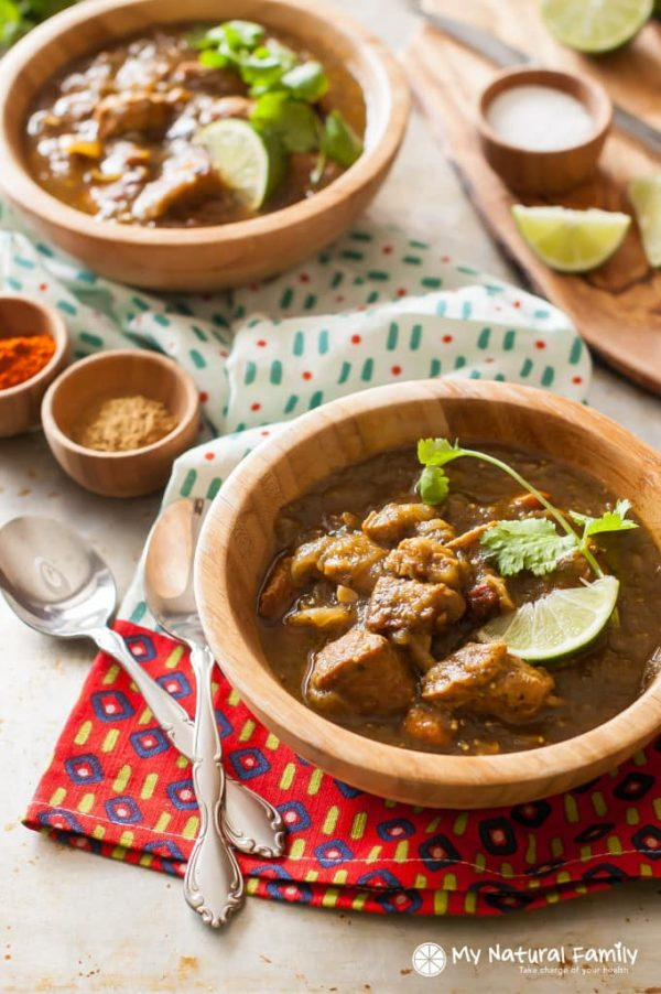 Pork Keto Chile Verde from My Natural Family