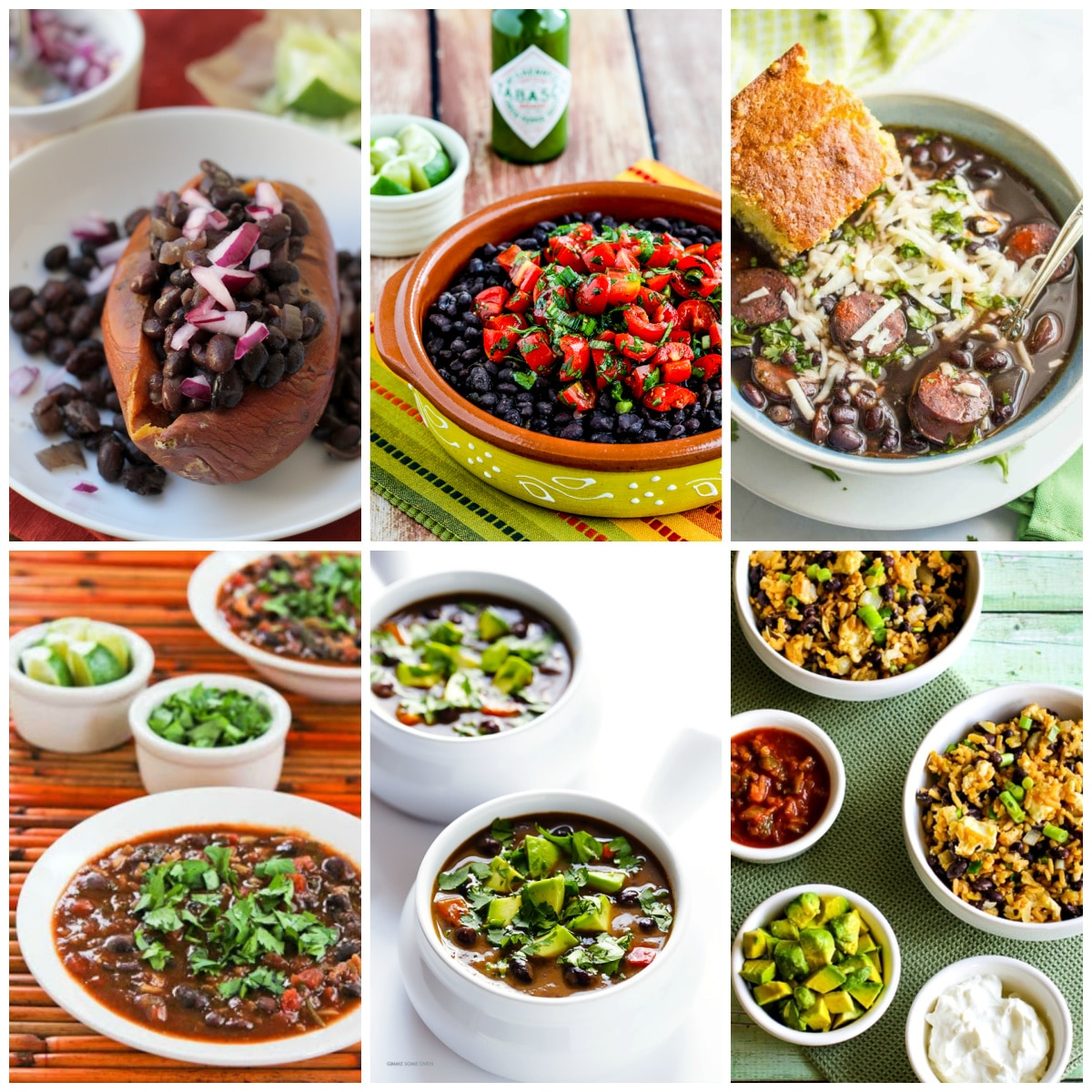 Slow Cooker Recipes with Black Beans top photo collage