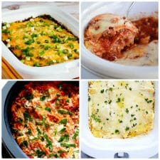 Slow Cooker Lasagna Recipes top photo collage