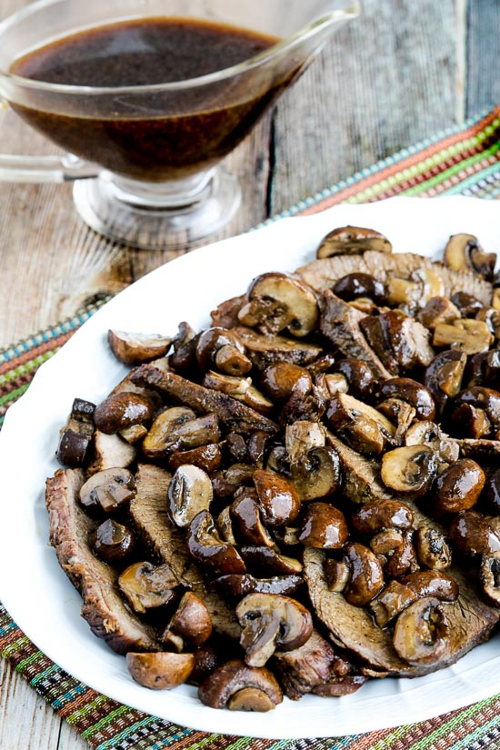 Low-Carb Slow Cooker Mushroom Lover's Pot Roast from Kalyn's Kitchen