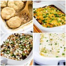Slow Cooker Casserole Dinners top photo collage