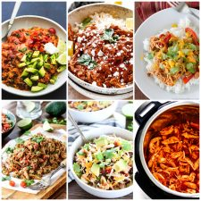 Slow Cooker and Instant Pot Mexican Chicken Recipes top photo collage