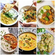 Slow Cooker or Instant Pot Coconut Milk Curry Recipes collage of featured recipes