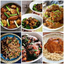 Slow Cooker or Instant Pot Asian Chicken Recipes collage of featured recipes