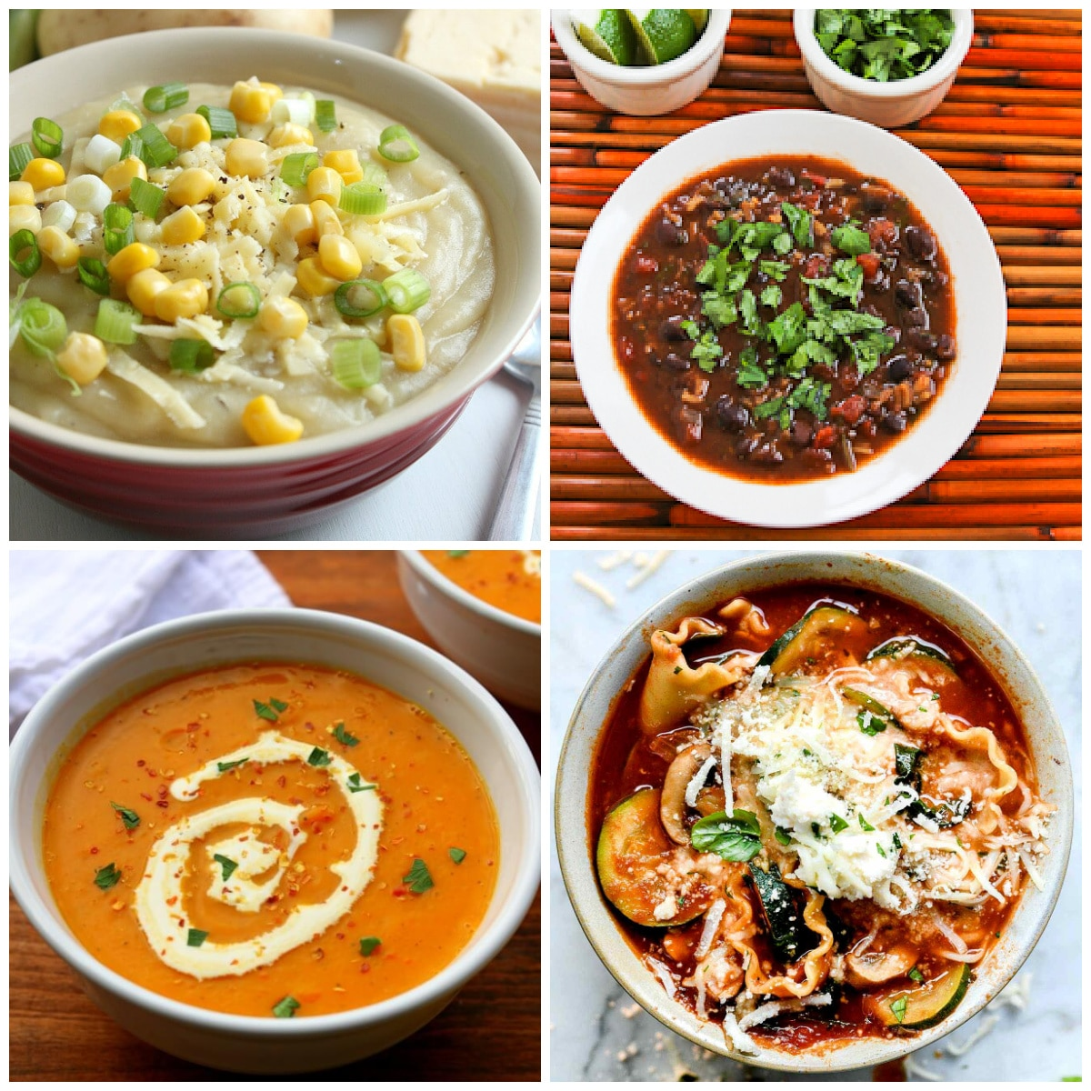 Amazing Vegetarian and Vegan Soups (Slow Cooker and Instant Pot) top photo collage