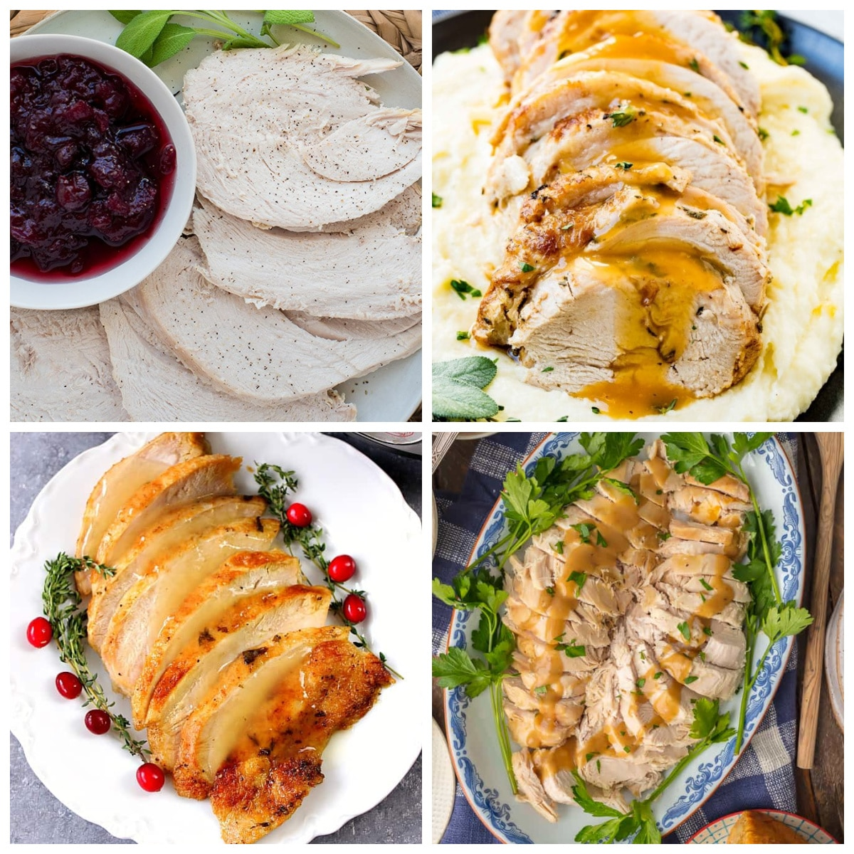 Ten Terrific Recipes for Instant Pot Turkey Breast top collage