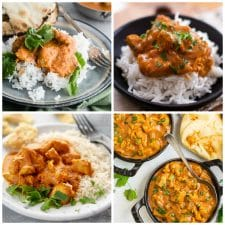 Slow Cooker and Instant Pot Butter Chicken Recipes top photo collage