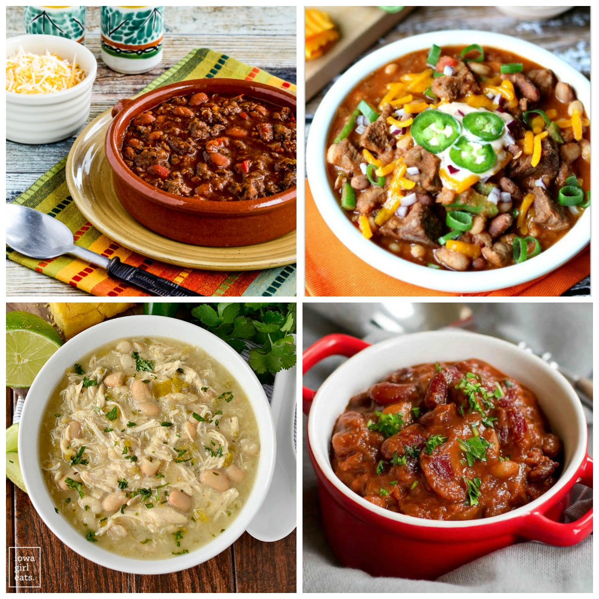 The BEST Slow Cooker Chili Recipes top photo collage