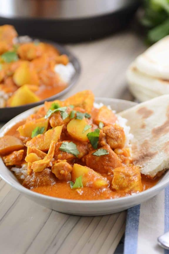 Instant Pot Indian Butter Chicken and Potato Curry from Mel's Kitchen Cafe