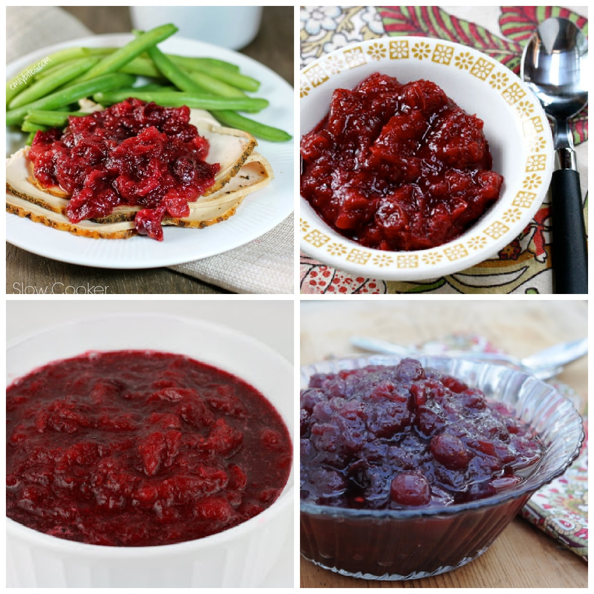 Slow Cooker Cranberry Sauce Recipes photo collage