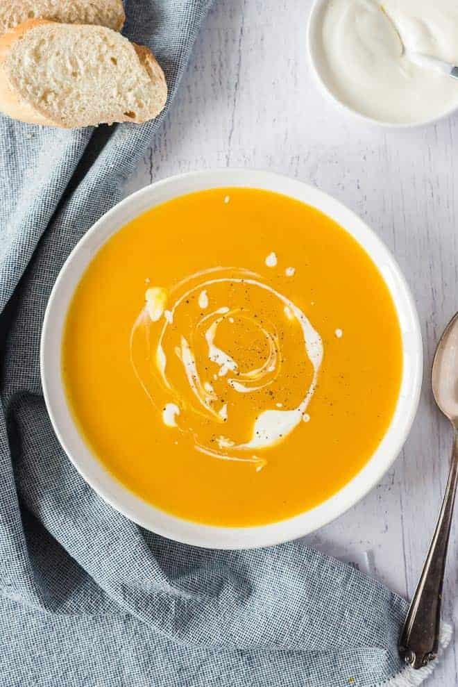 CrockPot Pumpkin Soup from Rachel Cooks
