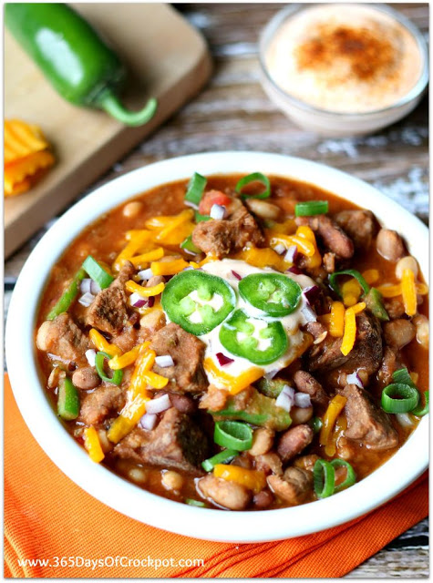Slow Cooker 15-Bean Chili from 365 Days of Slow + Pressure Cooking