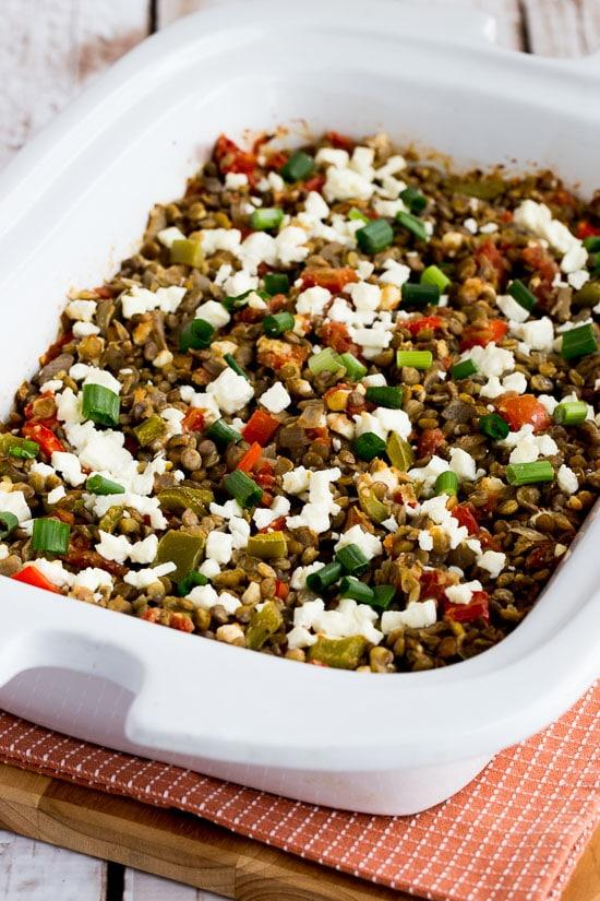 Slow Cooker Vegetarian Greek Lentil Casserole from Kalyn's Kitchen