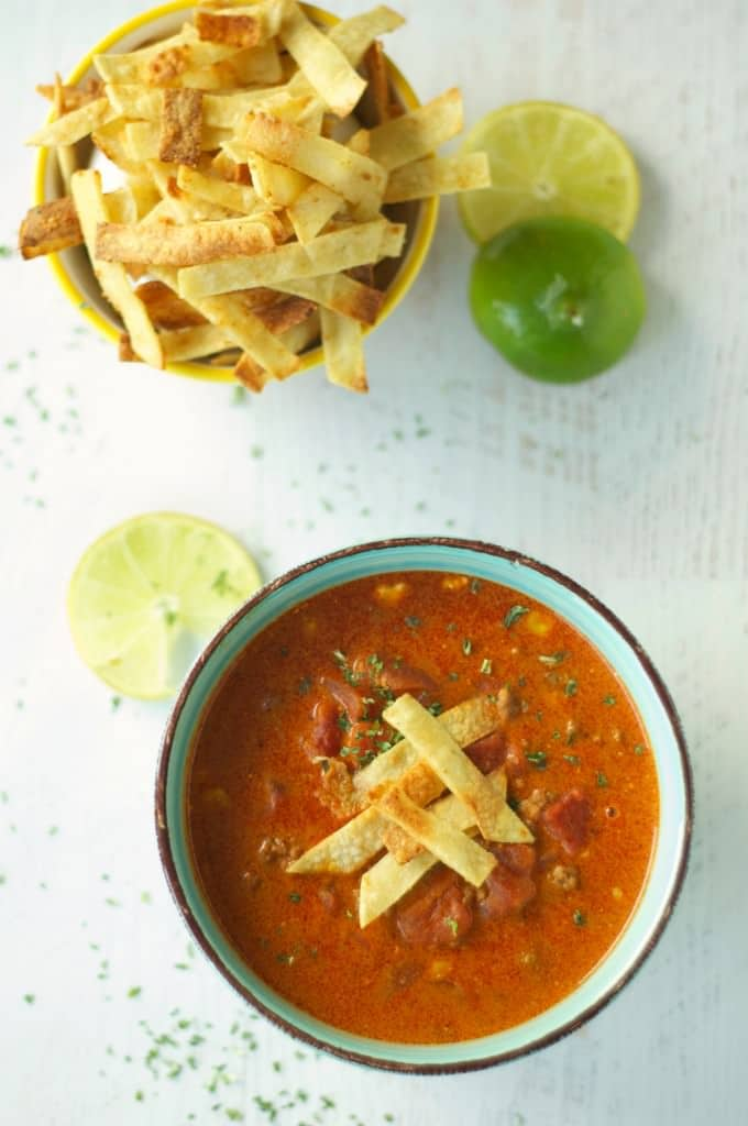 Slow Cooker Beef Enchilada Soup from Slow Cooker Gourmet