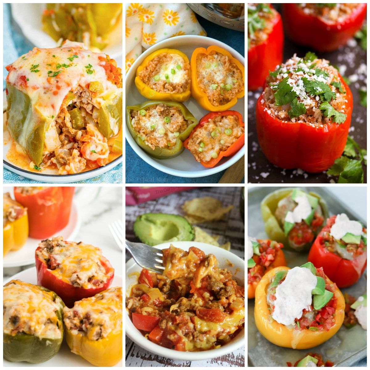 Instant Pot Stuffed Peppers Recipes photo collage